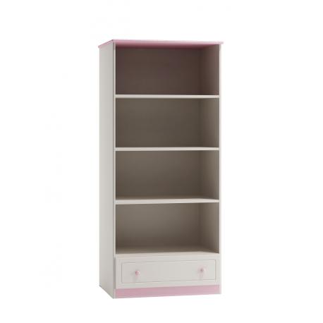 Knižnica -regál so šuflíkom